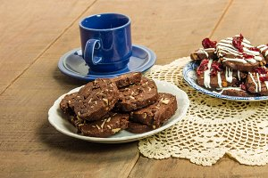 Cookies with blue mug