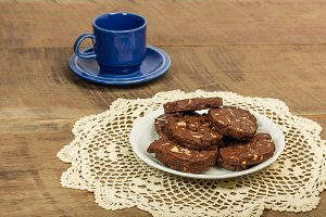 Cookies with blue mug