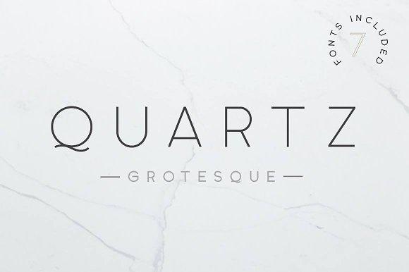Quartz Grotesque 7 Font Styles