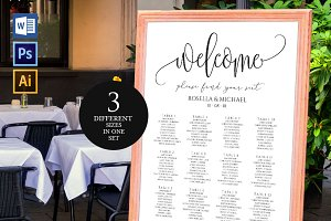 Wedding seating chart SHR47