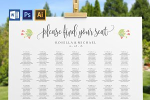 Wedding seating chart SHR49