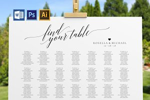 Wedding seating chart SHR51