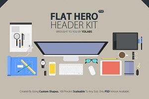 Flat Hero Header Kit