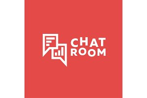 Icons minimalist Chat room Message range Wireless sign of the Trend Flat