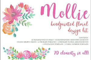 Mollie - Watercolor Floral Set