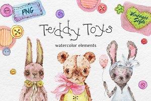Teddy HandMade Watercolor bundle