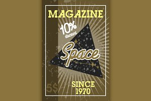 Color vintage space banner