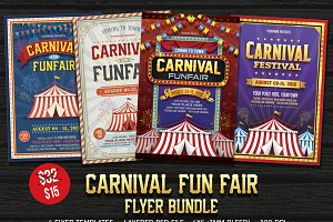 Carnival & Funfair Flyer Bundle