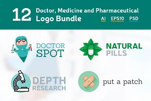 12 Doctor Medicine Logo Bundle