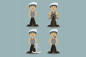 Sailor characters set