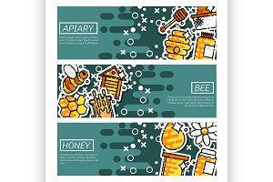 Banners about apiary