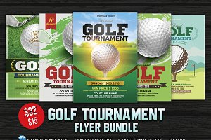 Golf Tournament Flyer Bundle