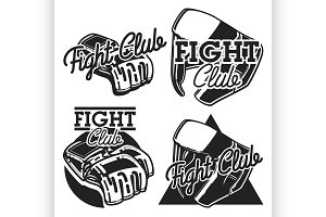 Vintage fight club emblems