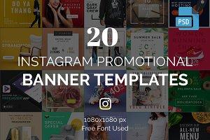 20 Instagram Banner Templates