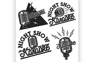 Vintage karaoke emblems