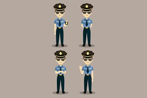 vector policeman at work.