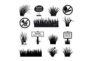 Garden or park signs
