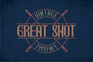 GreatShot Label Typeface