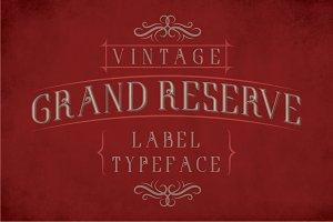 GrandReserve Vintage Typeface