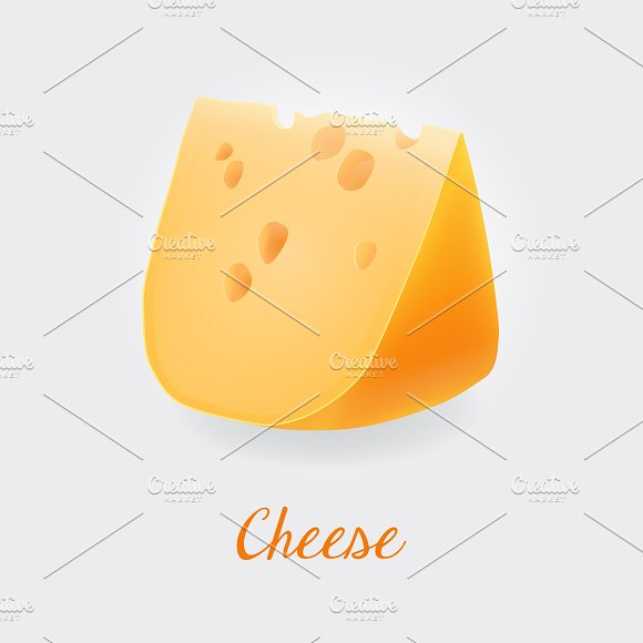 Cheese With Holes Realistic Vector