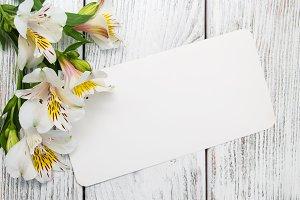 Alstroemeria with card