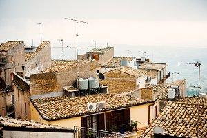 Italian village roofs