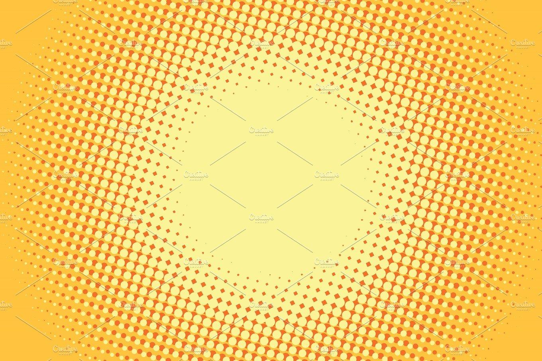 Yellow Pop Art Retro Comic Background