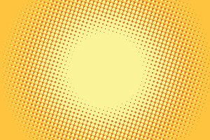 Yellow pop art retro comic background