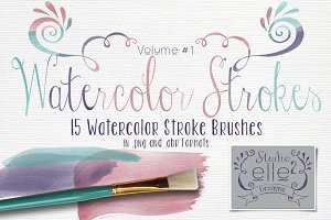 Watercolor Strokes Vol. #1
