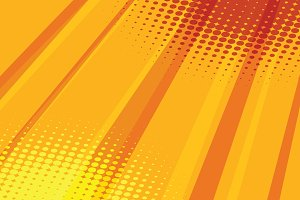 Red yellow halftone raster effect pop art background