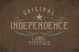 Independence Label Typeface
