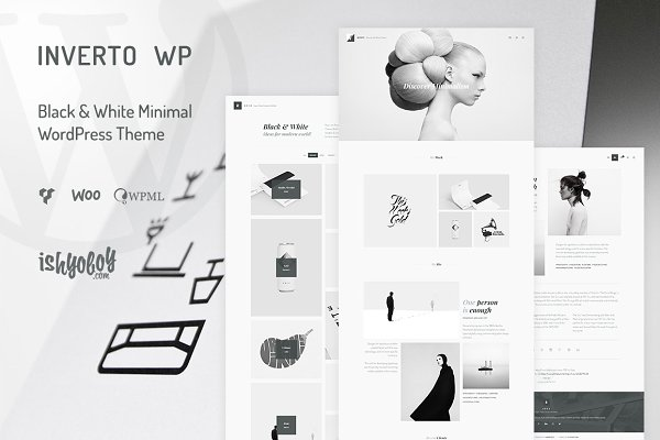 WordPress Portfolio Themes - Inverto - Minimal WordPress Theme
