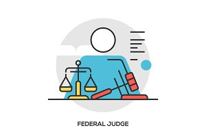 judge modern line style concept