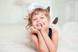 Laughing kid girl