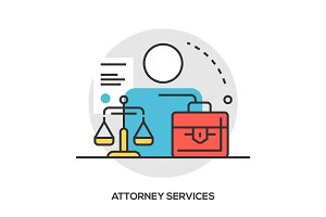 lawyer modern line style concept