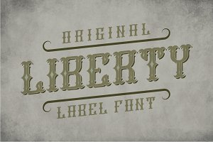 Liberty Label Typeface