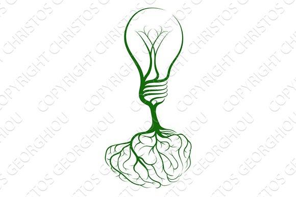 Brain Lightbulb Concept