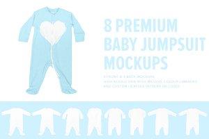 8 Premium Baby Jumpsuit/Onesie Mocks