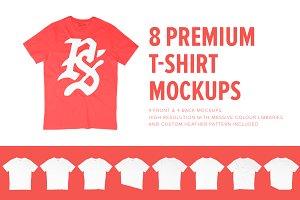 8 Premium Unisex T-Shirt Mockups