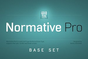 Normative Pro – 4 fonts