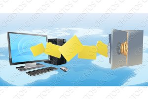 Computer safe secure transfer backup