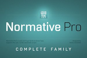 Normative Pro – 12 fonts