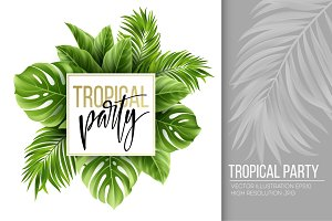 Tropical Party. Vector illustration