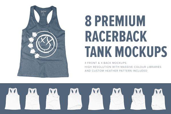 8 Premium Racerback Tank Mockups