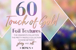Touch of Gold Foil Textures