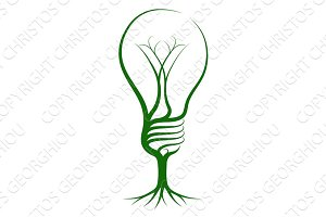 Lightbulb tree concept