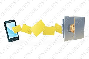 Cell phone safe secure transfer backup