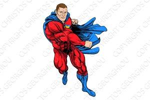 Punching superhero