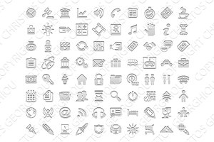 White stamp icons