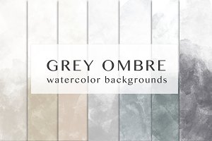 Grey ombre watercolor